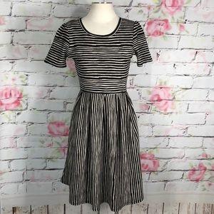 Lularoe striped Amelia dress with pockets